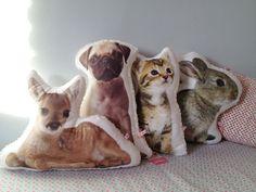 Kissen mit Haustier // Pet pillow by Herzverliebt via DaWanda.com