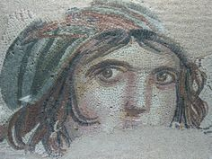 Roman mosaic unearthed in the ancient city of Zeugma (Southern Turkey) before the site was flooded due the construction of a huge dam on the Euphrates river