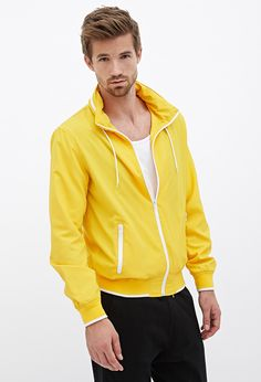 Hooded High-Neck Jacket #21Men