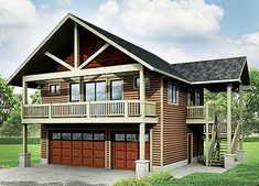 Garage With Apartment And Vaulted Spaces - 72768DA | Carriage, Mountain, Vacation, Narrow Lot, 2nd Floor Master Suite, CAD Available, PDF | Architectural Designs