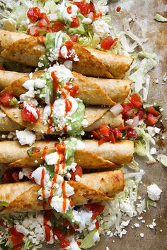 Chicken Flautas with Spicy Avocado Sauce by Heather Christo, via Flickr