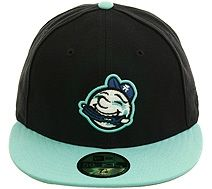 c02d059a8b9 New Era 2Tone Asheville Tourists Rib Fitted Hat - Navy Blue