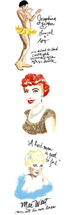 love josephine baker   illustrations by ann shen {via designlovefest}