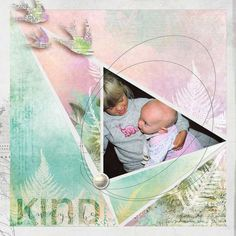 """Faithbooking Kindness focuses on the Fruits of the Spirit """"kindness"""" with soft greens, oranges and purples.  This kit is designed to follow along with the Faithbooking Scrapbooking May prompt.  Great for scrapping your art journaling faith based pages."""