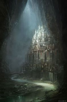 The Noldor, with the help of the Naugrim, built vast underground cities lit by Fëanor's sun-lamps, allowing them and all who would come a refuge until the world was healed.