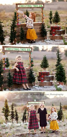 What a cute idea for a Christmas shoot.