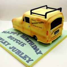 This was a vanilla sponge cake shaped into the only fools & horses van. Had so much fun doing this :o) Only Fools And Horses, Vanilla Sponge Cake, Horse Cake, Cake Shapes, The Fool, Birthdays, Sweet Stuff, Cake Ideas, Fun