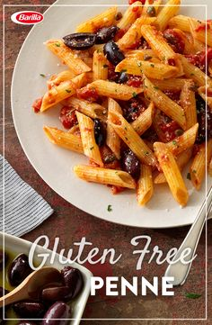 Try something delicious this summer... Go gluten free! Gluten Free Penne tossed with savory puttanesca sauce, parsley and romano cheese made in 20 minutes or less.