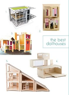 Top 5 Dollhouses – Best Modern wood Play Houses – Gift Guides for Kids | Small for BIg