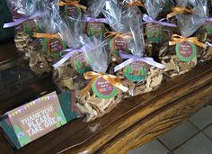 Woodland Theme Baby Shower Favors   The whole shower was so sweet and proves that with the right small ...