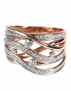 Jewelry & Accessories | Rings | 14Kt. Rose Gold Diamond Ring | Lord and Taylor