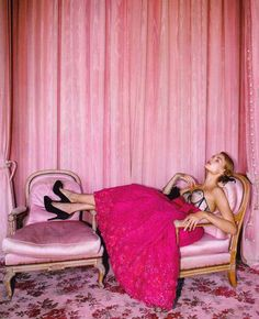 Louis XV Bergere Chairs in Bubble Gum Pink