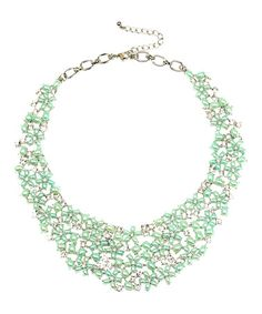 Another great find on #zulily! Silvertone & Teal Crystal Hail Necklace #zulilyfinds