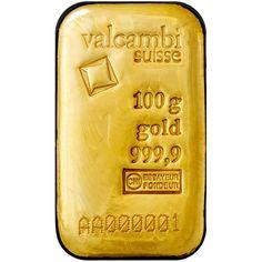 100 Gram Valcambi Cast Gold Bars from JM Bullion™