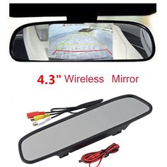 """4.3"""" TFT LCD Color Monitor Car Reverse Rear View Mirror for Backup Camera Vogue"""