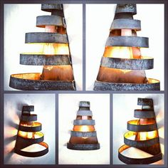 loft v3 salita curved wine barrel ring wall sconce 100 recycled arched napa valley wine barrel