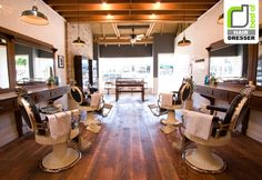 Need a masculine area for male customers. Baxter Finley, Barber & Shop, Los Angeles