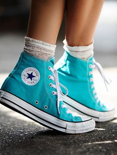 When in doubt, stick to a classic.  Free People Charlie Hi Top Converse, $55.00