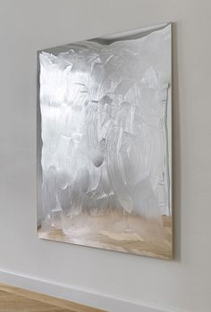 BERTRAND LAVIER Harrogate, 2014  acrylic on plexi glass on mirror 868 1/10 × 62 3/5 × 1 1/5 in
