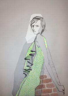 Graduate Fashion Week Inspirational Drawings
