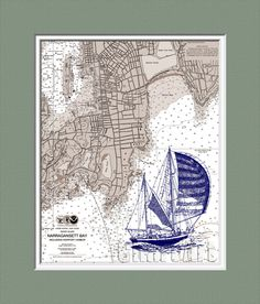 Nautical Print Wall Art Illustration Nautical Chart by ChartArt