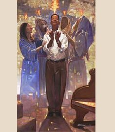 """Baptism in the Holy Spirit"" by Ron DiCianni  -    Available as an open edition on canvas at Prints.com"