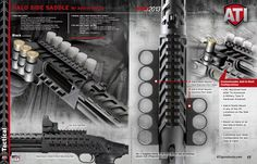 Announcing the the ATI Halo Side Saddle with Add-A-Shell for the Mossberg 500 & Put the aluminum Add-A-Shell shotgun shell holders in any location you desire for the task at hand. Tactical Shotgun, Tactical Knives, Tactical Gear, Firearms, Shotguns, Combat Shotgun, Mossberg 500, Side Saddle, Shooting Gear