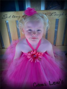 Flower girl tutu dress, Tutu halter dress