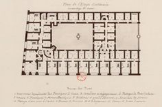 Basement Floor Plan, of early 19th century Parisian Apartment Building