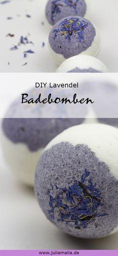 DIY für Badebomben mit Lavendel und Wildblüten. Perfekt für gemütliche Abende in der Badewanne.