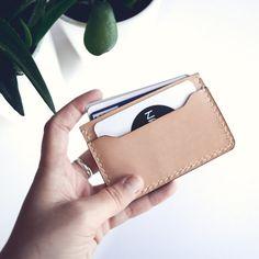 Porte-carte en cuir, couleur NATUREL
