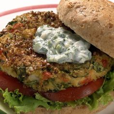 Southwest Black Bean Burgers with Lime Cream http://www.womenshealthmag.com/food/veggie-burger-recipes?slide=5