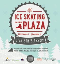 O.K. its cold out, let's take advantage of it by Ice Skating at Whole Foods