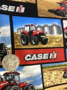 Patchwork Fabric 100 Cotton Brand NEW 1 45M Case IH Tractors   eBay