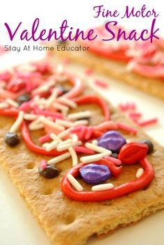 A Valentine's Snack That Develops Fine Motor Skills - Stay At Home Educator