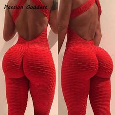 0cfd12ed327 2018 Sexy Women Jumpsuits Women Jacquard Macacao Rompers Push Up Jumpsuit  Backless Bandage Elastic Tracksuit Jumpsuit