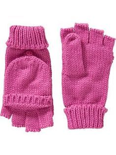 Womens Convertible Knit Gloves