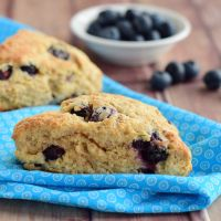 Whole Wheat Blueberry Yogurt Scones