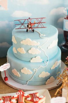 Vintage Airplane Birthday Party Ideas | Photo 1 of 38 | Catch My Party