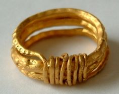 Late Anglo-Saxon period. The ring is of a type that is associated with the Vikings, and was popular during the 9th and 10th centuries AD.