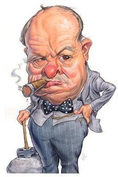Slow your PINNING! Funny Caricatures, Celebrity Caricatures, Churchill Quotes, Winston Churchill, Cartoon Faces, Funny Faces, Marvel Characters, Cartoon Characters, Films Western
