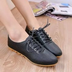 hot fashion casual flat shoes Round Toe solid artificial leather Female Lace-up Comfortable lesuire breathable all match shoes Womens Shoes Wedges, Womens Flats, Women Oxford Shoes, Shoes Women, Wholesale Shoes, Fashion Flats, White Shoes, Pumps Heels, All Black Sneakers