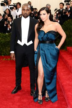 The 20 Most Stylish Couples at the 2014 Met Gala: Kim Kardashian and Kanye West