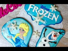 FROZEN COOKIES: ELSA and OLAF by TaleCookies