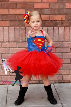 Super girl superhero tutu dress and costume Dress Up Costumes, Cute Costumes, Super Hero Costumes, Girl Costumes, Halloween Costumes, Red Tutu, Superhero Party, Fancy Dress, Cute Kids