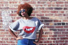 Oversized  	Cropped sweatshirt  	Handmade   	Sequin red lip decal   	One size fits most   	Color: Heather grey      Each item is handmade. Item will ship Feb 6th  | Shop this product here: http://spreesy.com/shopstylehaven/8 | Shop all of our products at http://spreesy.com/shopstylehaven    | Pinterest selling powered by Spreesy.com