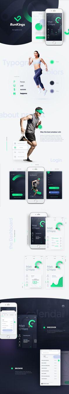 RunKings App on Behance