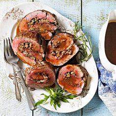 Beef Tenderloin with Parmesan-Herb Stuffing From Better Homes and Gardens, ideas and improvement projects for your home and garden plus recipes and entertaining ideas.