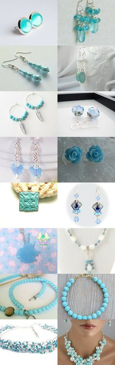 Icy Blue Jewelry by Jenn Surprenant on Etsy--Pinned with TreasuryPin.com