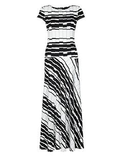 round neck striped maxi from autograph at marks n sparks 65 quid nice pair of heels and a bolero cardi and your set. Striped Maxi Dresses, Short Sleeve Dresses, Dresses For Work, How To Wear, Inspiration, Clothes, Anna, Nice, Heels